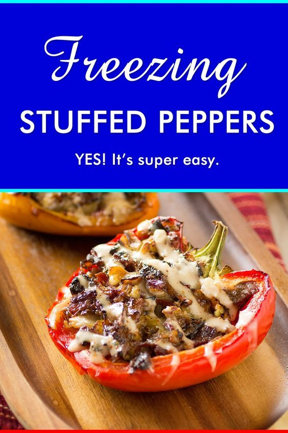 Freezing Stuffed Peppers - Can you freeze stuffed peppers? Absolutely. Learn how to freeze your stuffed peppers so you can make larger batches and enjoy them later.