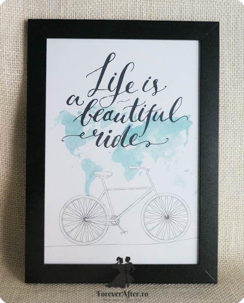 Rama cu mesaj Life is a beautiful ride   Accesorii nunta - Mesaje   ForeverAfter.ro