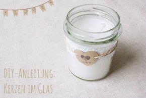 Hochzeits-DIY: Kerzen im Glas