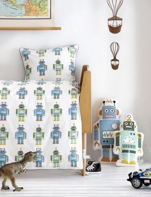 retro,robot,kids,nursery,mod,midcentury,decor,decorating,design trend