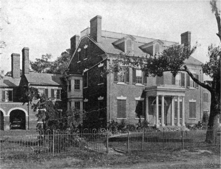 COLROSS PLANTATION, Alexandria, Virginia. Home of John Potts, Jonathan Swift, then Thomas Frances Mason. Home was built in 1799-1800.