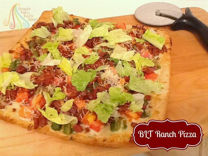 Simple Fare, Fairly Simple: BLT Ranch Pizza...and grab a $1.00 off coupon!!!