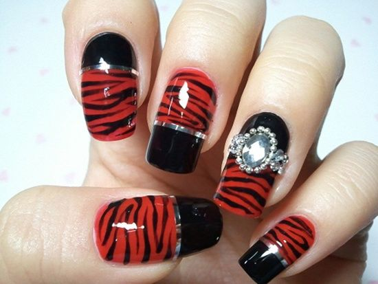 red nail art 8 #rednails #rednailartdesigns #rednaildesigns  #rednaildesignideas. French Nail DesignsBlack ... - 35 Best Red Nail Art Designs Images On Pinterest Red Nail, Red