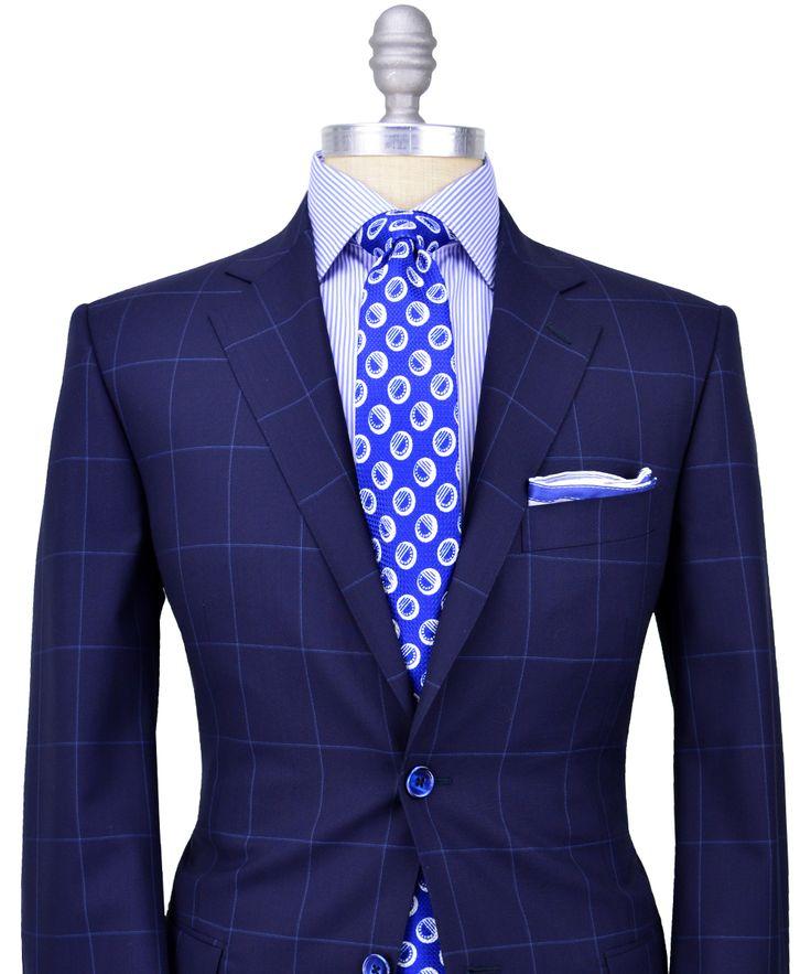 Very Classy And Original Pairing Navy Blue Sport Coat