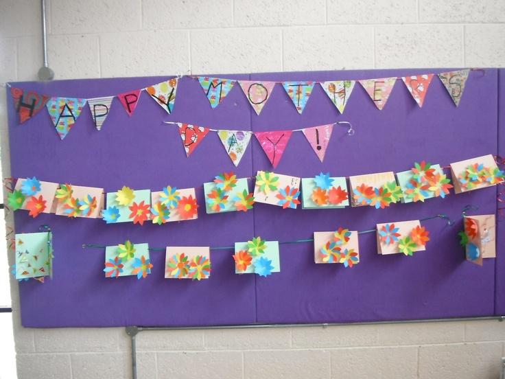 Mother's day bunting cards with pop out flowers