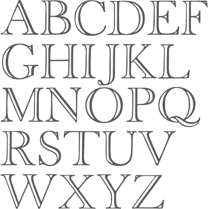 Times New Roman Outline Font