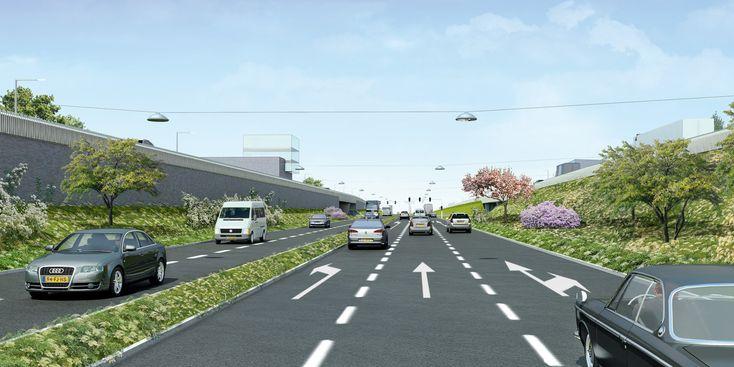 Ontwerp inpassing N302 in het stedelijk gebied van Hardewijk (ca. 4 km); in het kader van een D&C aanbestedingsprocedure, i.o.v. Haverkort Voormolen, Boskalis en Van Gelder en i.s.m. Tauw en W+B (2008) #wurck #wurckprojects #harderwijk #N302 #road #car #landscape #design #infrastructure
