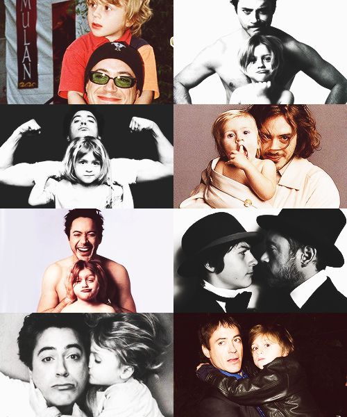 Robert Downey Jr and first son so cute