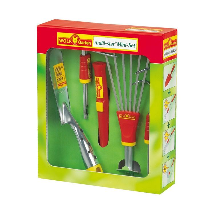 Wolf Garten 'P243 LU-Z/LA-M/LD-M/LN-M' Mini-Set, Red/Yellow/Silver, 40x30x20 cm >>> Find out more at the image link. #Gardening
