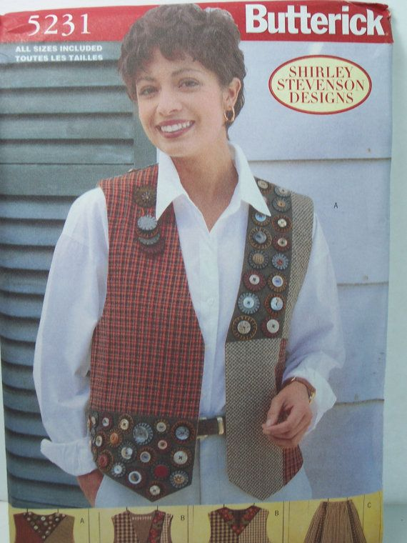 Butterick 5231 Sewing Pattern   Misses Appliqued by WitsEndDesign, $8.00