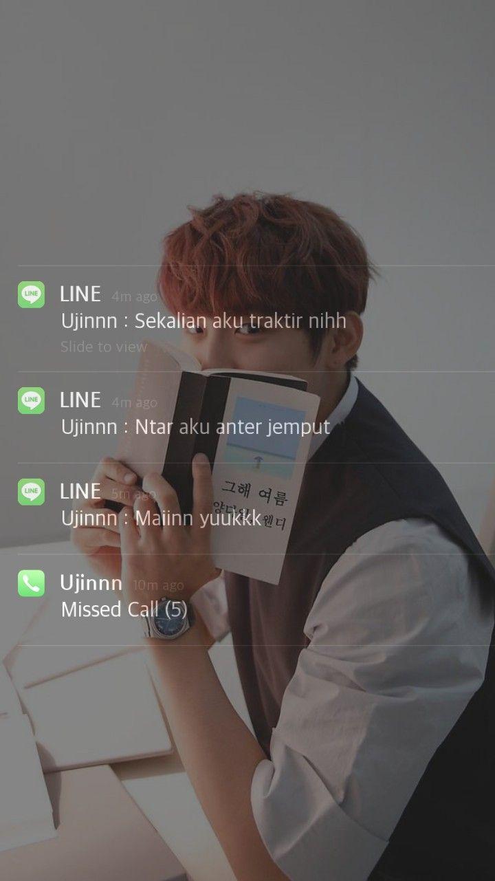 Park Woojin Fake Chat Lockscreen Teks Lucu Kosakata Pacar Pria