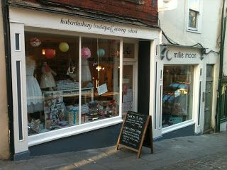 Our lovely Millie Moon shop in Frome, on the cobbles of Catherine Hill.