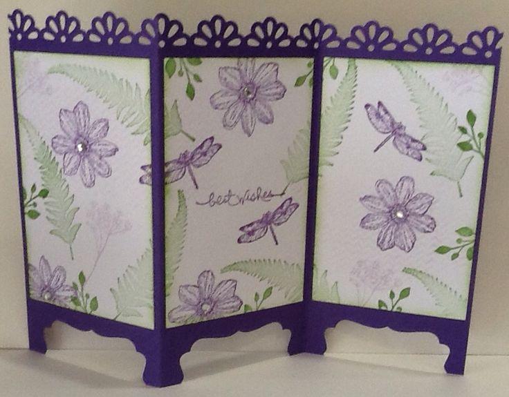 Screen card using Stampin Up Organic Grace
