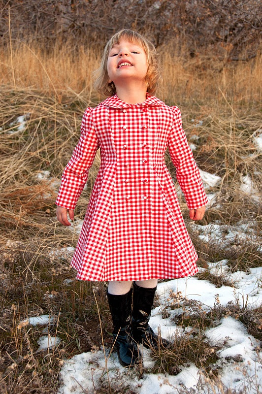 Gingham dress/coat - LOVE the pattern, different fabric though