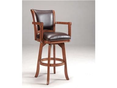 Shop+for+Hillsdale+Furniture+Parkview+Counter+Stool,+4186-826,+and+other+Bar+and+Game+Room+Stools+at+Garnand+Fine+Furniture+in+Garden+City,+KS.+Add+traditional+charm+to+your+bar,+game+room+or+kitchen+with+Hillsdale+Furniture's+Park+View+stool.+Finished+in+a+medium+brown+oak+with+deep+brown+leather+seat+cushions+and+backs,+this+swivel+stool+combines+comfort+with+casual+living.