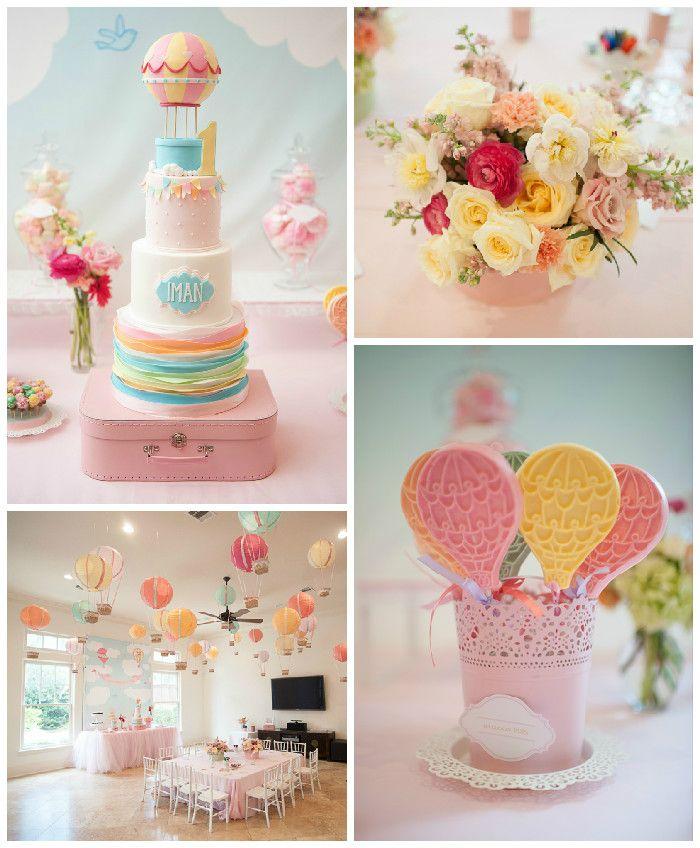Carried Away Hot Air Balloon Birthday Party via Kara's Party Ideas KarasPartyIdeas.com #hotairballoonparty (2)