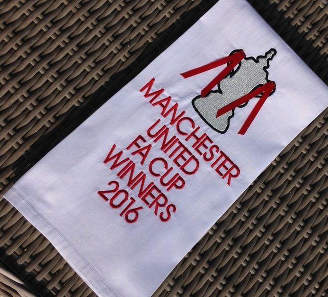 Manchester United FA Cup Winners Tea Towel £8.75