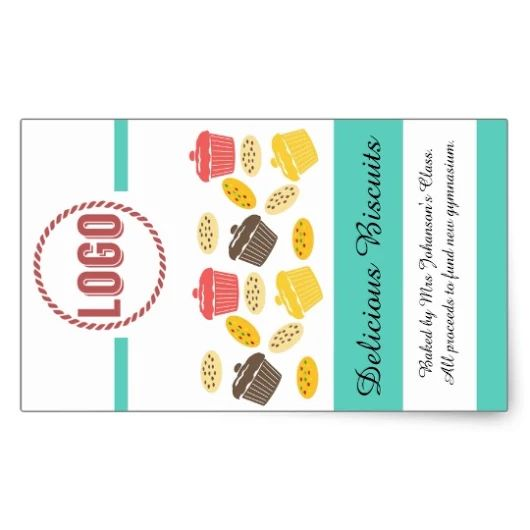 Are your kids baking treats to give as gifts? Personalise this sticker by upl...