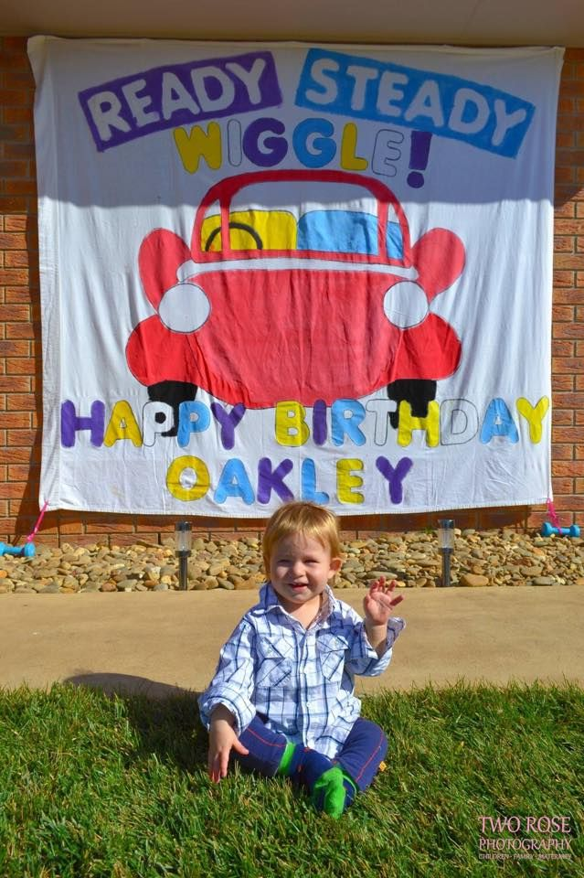 Why not create a personalised Wiggly banner for your party? #thewiggles #wigglyparty