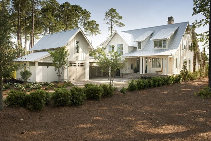 Best 25 attached garage ideas on pinterest detached for Low country house plans with detached garage