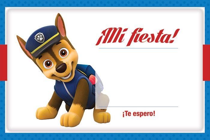 Invitación Kit Imprimible Chase Paw Patrol Gratis Fiesta De