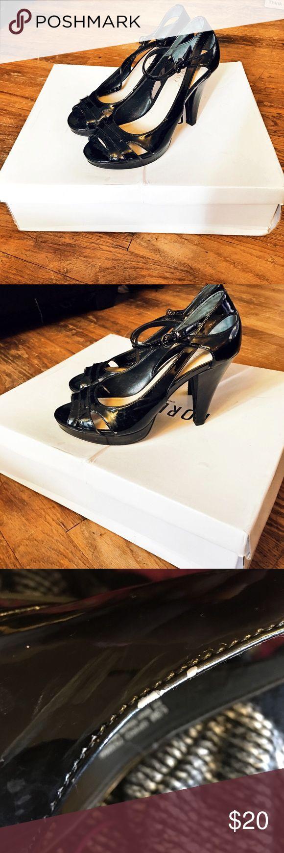 Franco Sarto Sleek Black Heels Only worn twice. Very minimal signs of wear. Franco Sarto Shoes Heels