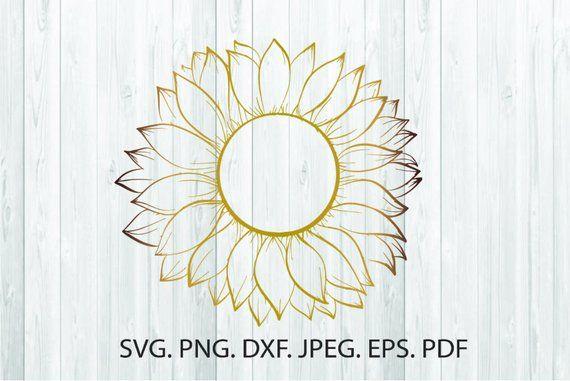 Download SunFlower Svg Sunflower Silhouette Sunflower Clipart ...