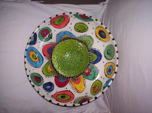 Kimberly Harper chip and dip bowl