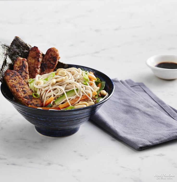 Miso hungry! This Miso-Glazed Tempeh with Soba Salad is exclusive to our 8-Week Program. YUM! –I Quit Sugar