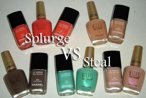 Splurge Vs. Steal....Chanel Nail Polish Vs. Milani Nail Polish... Which do you prefer??? High End or Drugstore?? <3