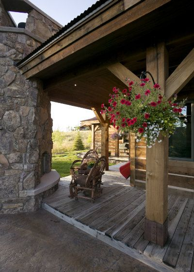 Design Inspiration: Rustic Outdoor Living Spaces | Home on the Range