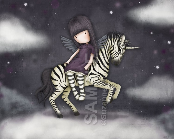 The Dark Streak - 8 x 10 Giclee Fine Art Print - Gorjuss Art. $18.00, via Etsy.