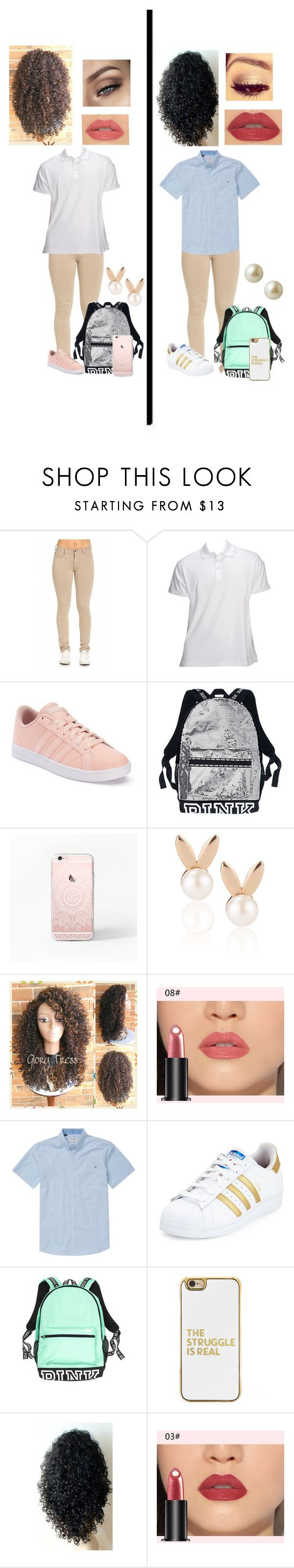 """""""Back to School (Uniform)"""" by angelforevernalways ❤ liked on Polyvore featuring 5.11 Tactical, adidas, Aamaya by priyanka, Billabong, BaubleBar and Carolee"""