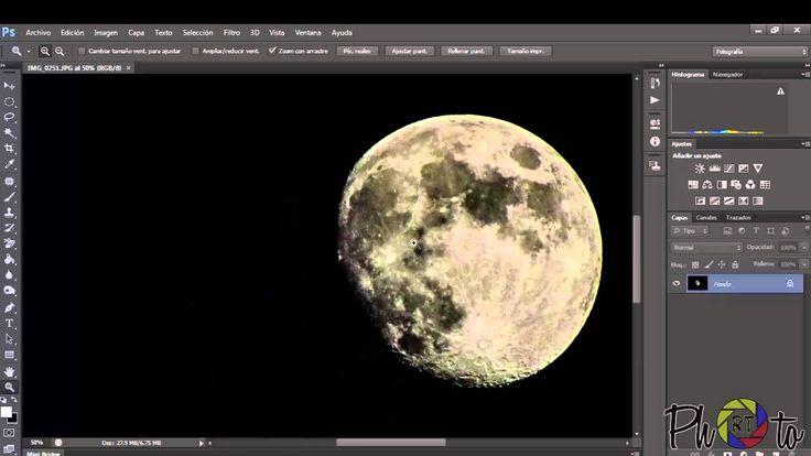Como fotografiar la luna con gran detalle   Adobe Photoshop CS6   (Moon ...