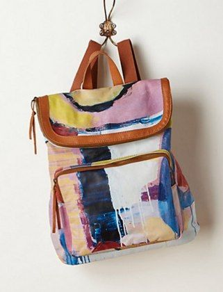 16 Backpacks That Won't Have You Blending With High Schoolers - Abstraction Backpack - Anthropologie