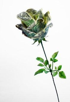 Money Origami Rose