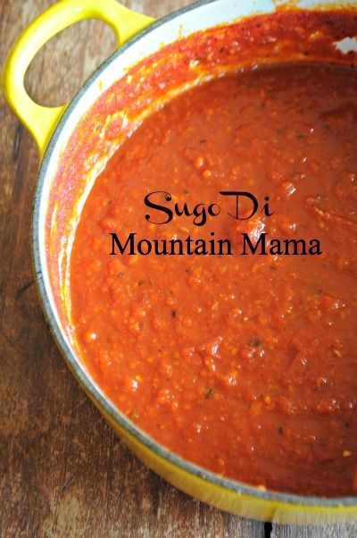Or as I've adoringly named it, Sugo di Mountain Mama. This basic red sauce recipe is slightly adapted from one of my favorite food bloggers, Flavia, and her recipe for Sugo di Pomodoro, which simply means tomato sauce. But trust me when I tell you there is nothing simple about this sauce. It's full