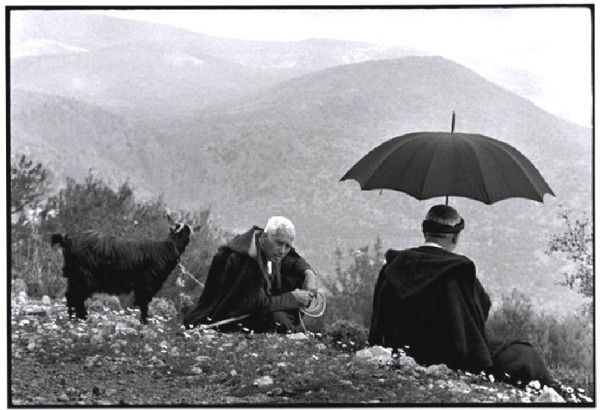 'Sepherds with a goat, Crete, Greece' © Constantine Manos &  Magnum Photos @Maria Speck