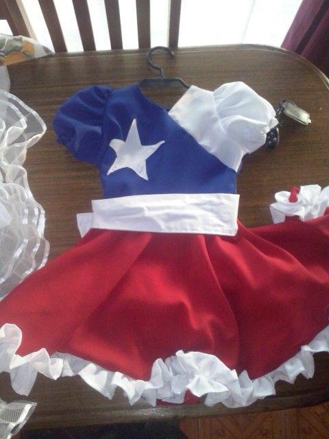 vestido de bandera