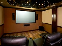 Front projection home theater systems