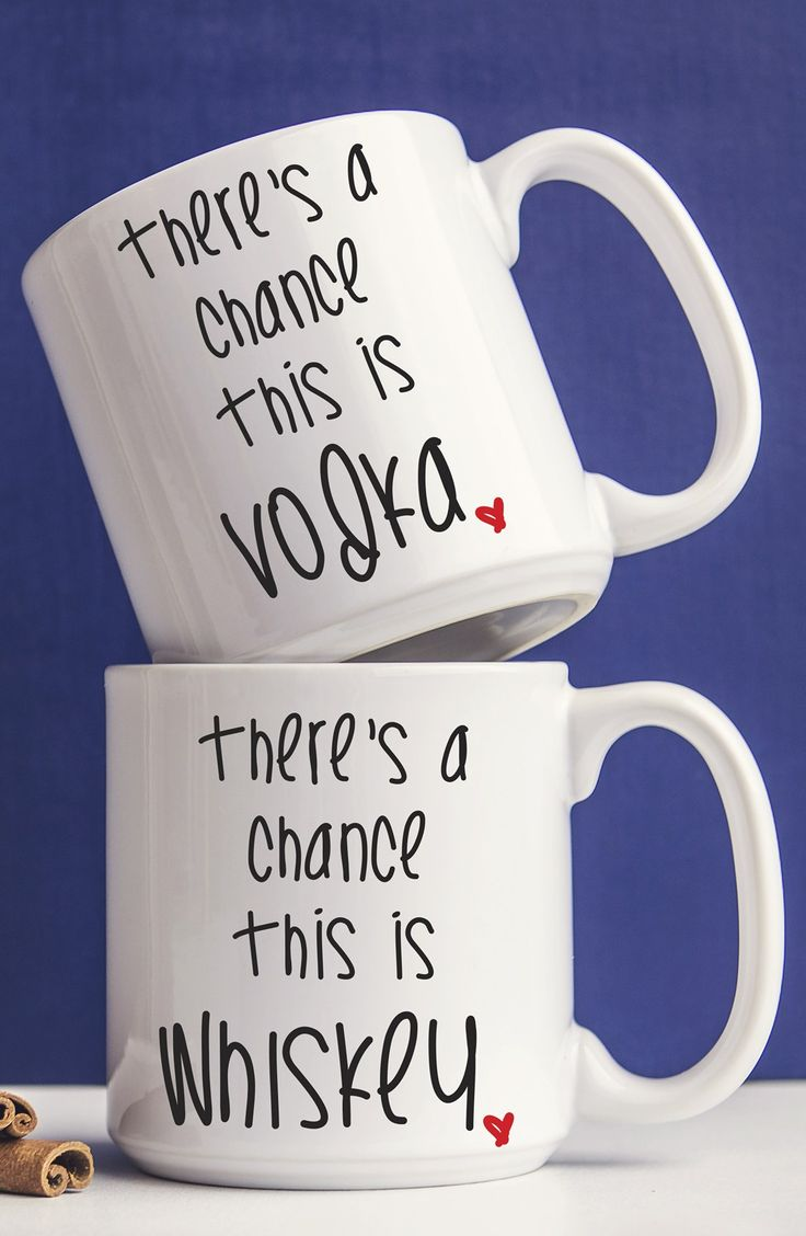 Starting the morning off with a giggle with these quick-witted coffee mugs.