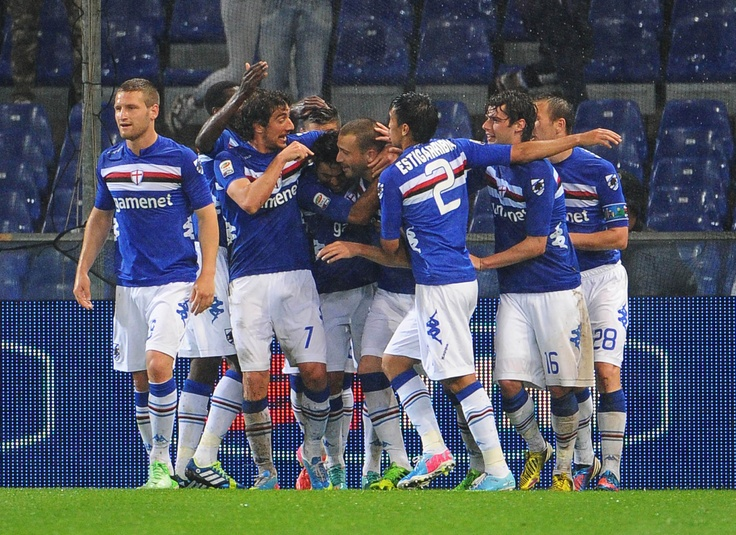 "Without limits: U.C. Sampdoria smashs Juventus. ""The Invicibles"" white and black stripes beaten by blucerchiati for the second time in this season. 3-2  #SampJuve"