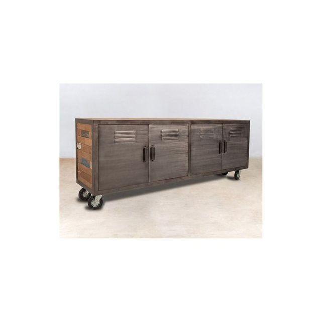 1000 id es propos de portes m talliques sur pinterest for Meuble en bois recycle
