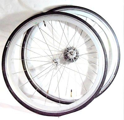 Vintage Campagnolo CHORUS HUBS Wheels set WHEELSET HIGH PROFILE RIMS CLINCHER