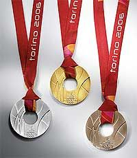 Medals from Torino Games, 2006