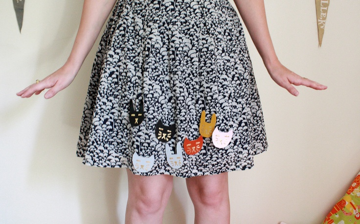 Cat and Rabbit Wood or Leather Brooches. $12.00, via Etsy.