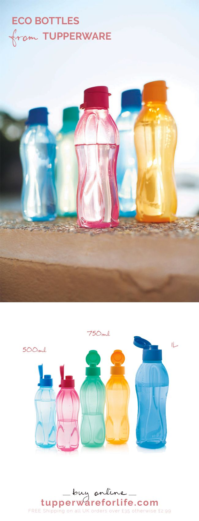 eco water bottles via Tupperware Order today from leianne.my.tupperware.com