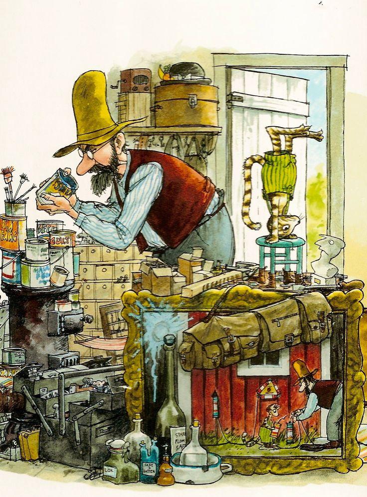 Postkarte - Pettersson und Findus