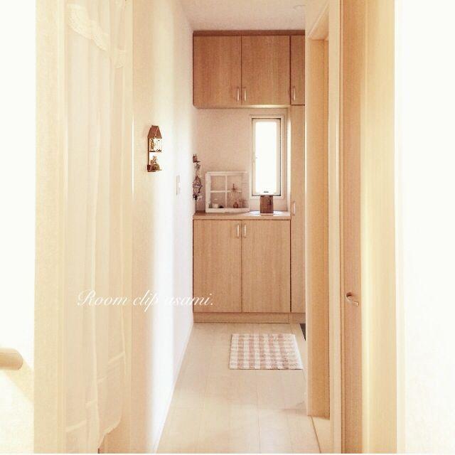 玄関マット/リビングからの廊下/建売だけどオシャレハウスを目指します!/のれん…などのインテリア実例 - 2015-05-11 15:22:13 | RoomClip(ルームクリップ)