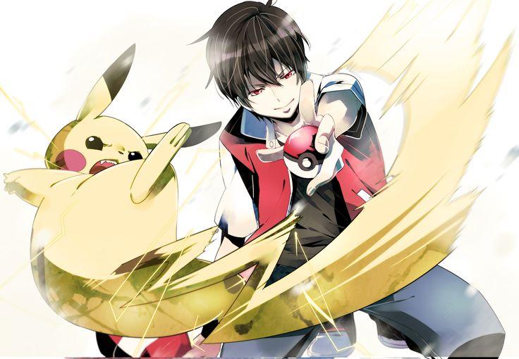 Tags: Fanart, Pokémon, Nintendo, Pixiv, Pikachu, Red (Pokémon), GAME FREAK, Chima Tsuitta